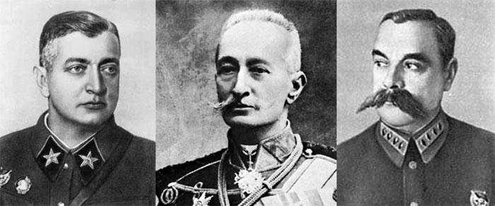 Тухачевский М. Н., Брусилов А. А., Каменев С. С.