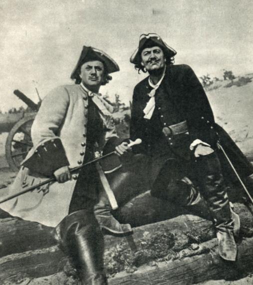 Меншиков и Пётр I кадр из фильма