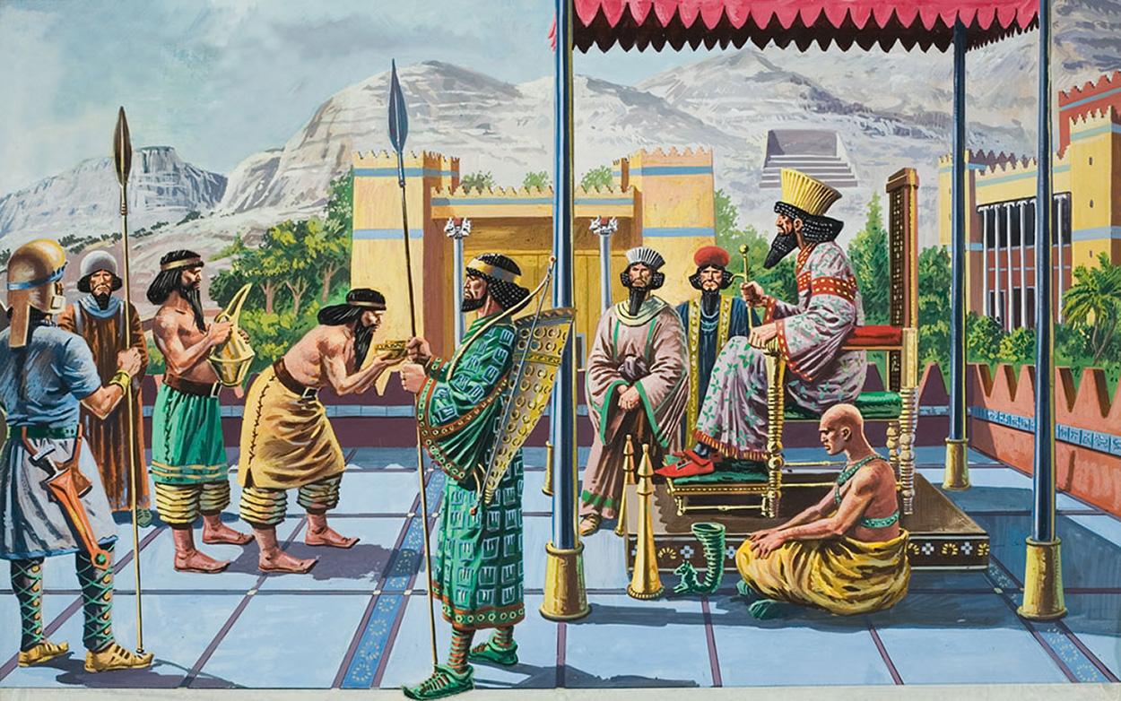 Царь Дарий I и Персеполис