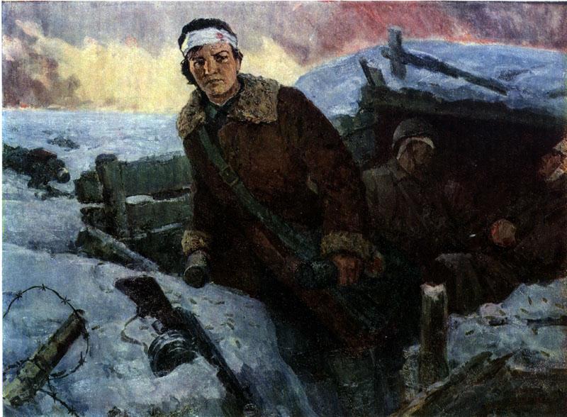 И.А. Пензов «Подвиг комсомолки Наташи Качуевской»