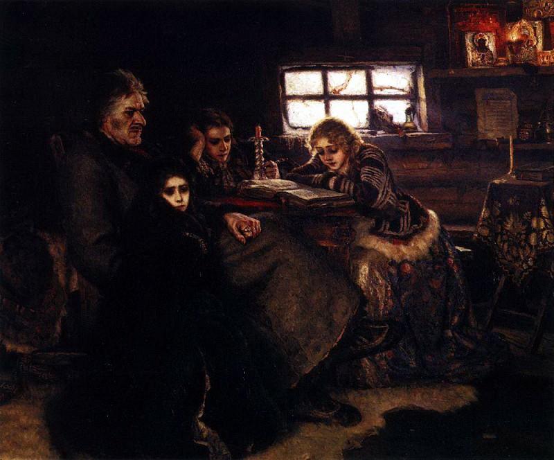 "Картина В.И.Сурикова ""Меншиков в Берёзовске"" холст, масло. 1883 год"