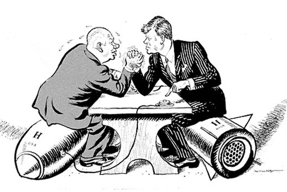 Карикатура на Карибский кризис 1962 года