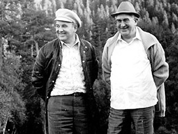 Горбачев (слева) и Андропов (справа)