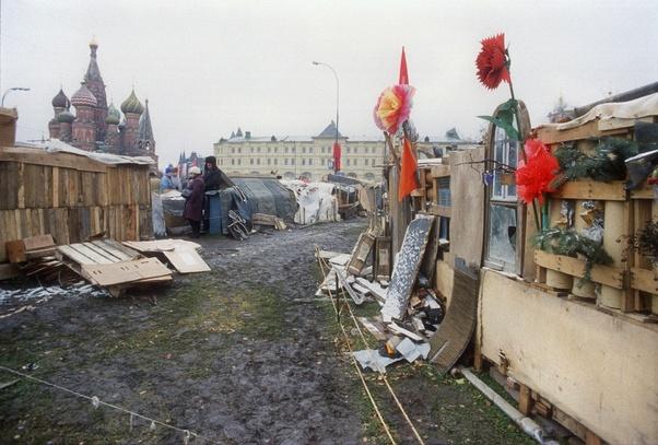 Но такая в то время Красная площадь ... Мама говорила, что даже после Второй мировой войны не все было так разрушено ...