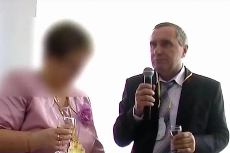 Андреев с женой на свадьбе сына