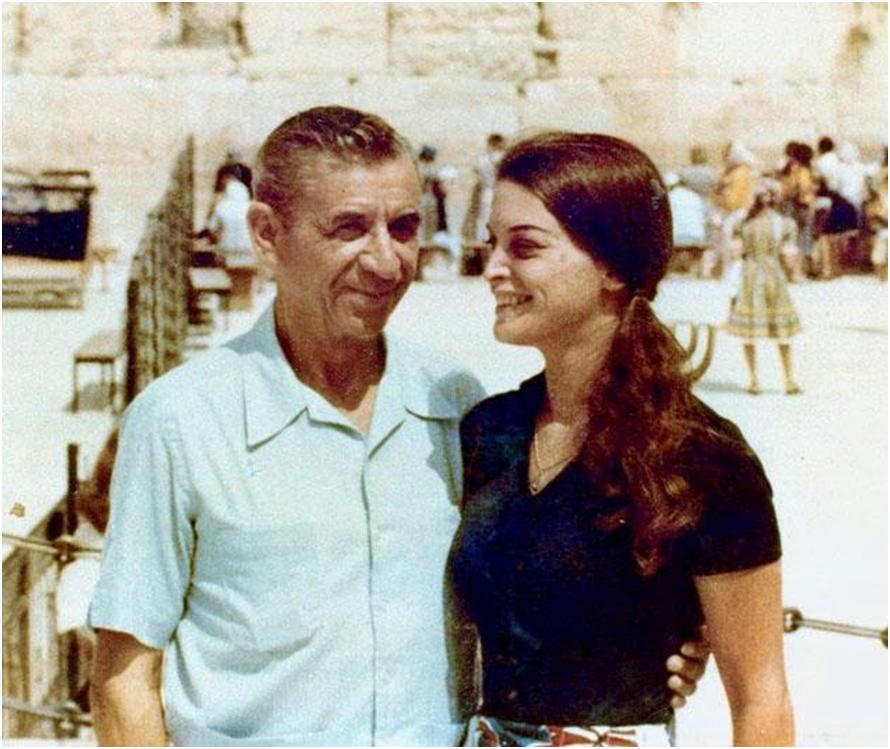 Лански Лански с дочерью у Стены Плача