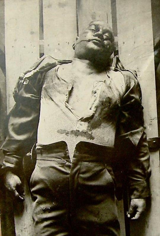 Тело Котовского после убийства