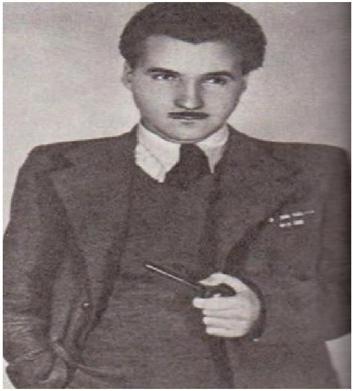 К. Симонов в молодости