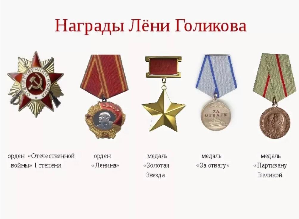 Награды Лени Голикова