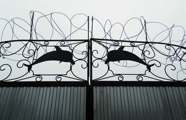 Тюремные ворота с дельфинами