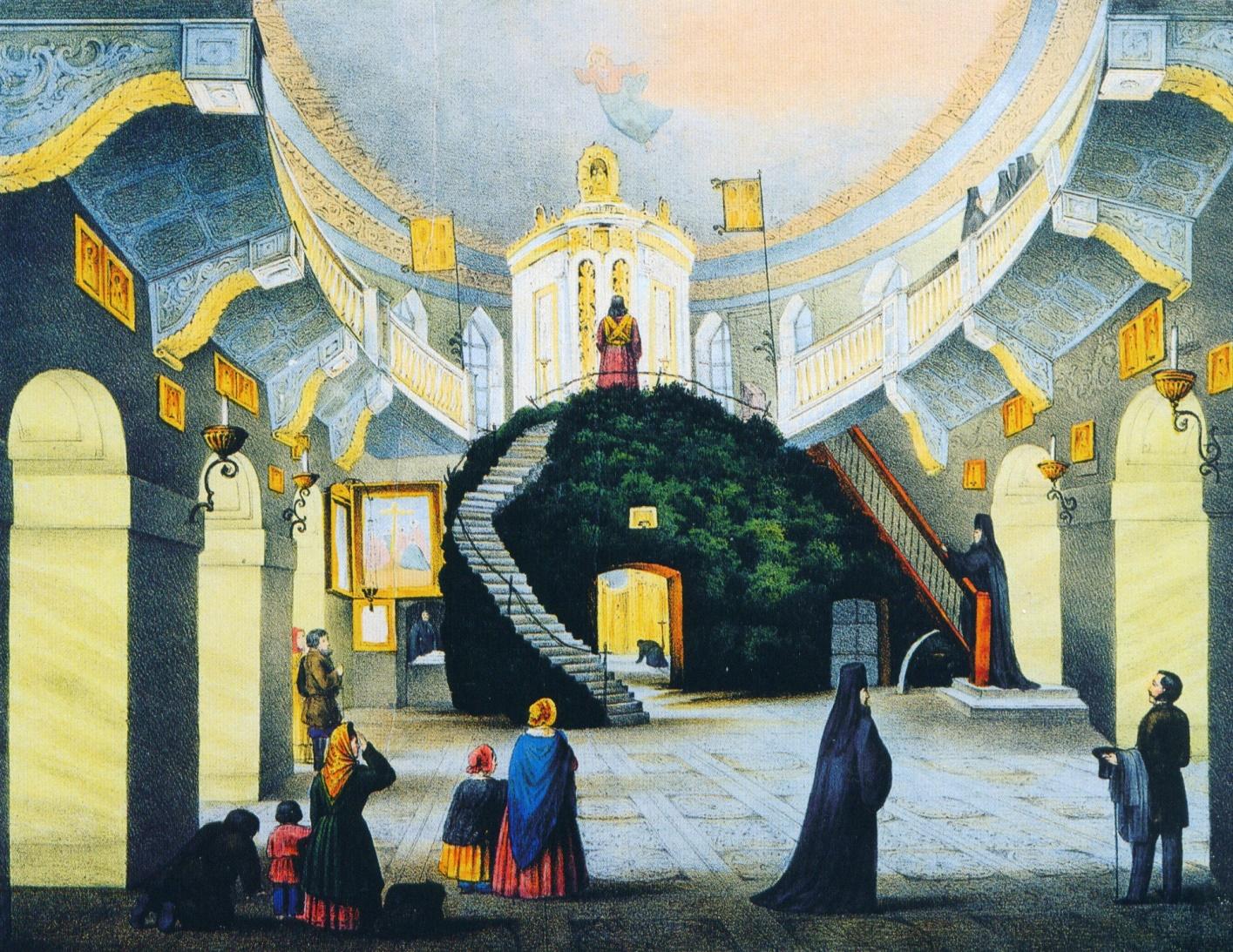 Интерьер собора, каким его увидел Дюма