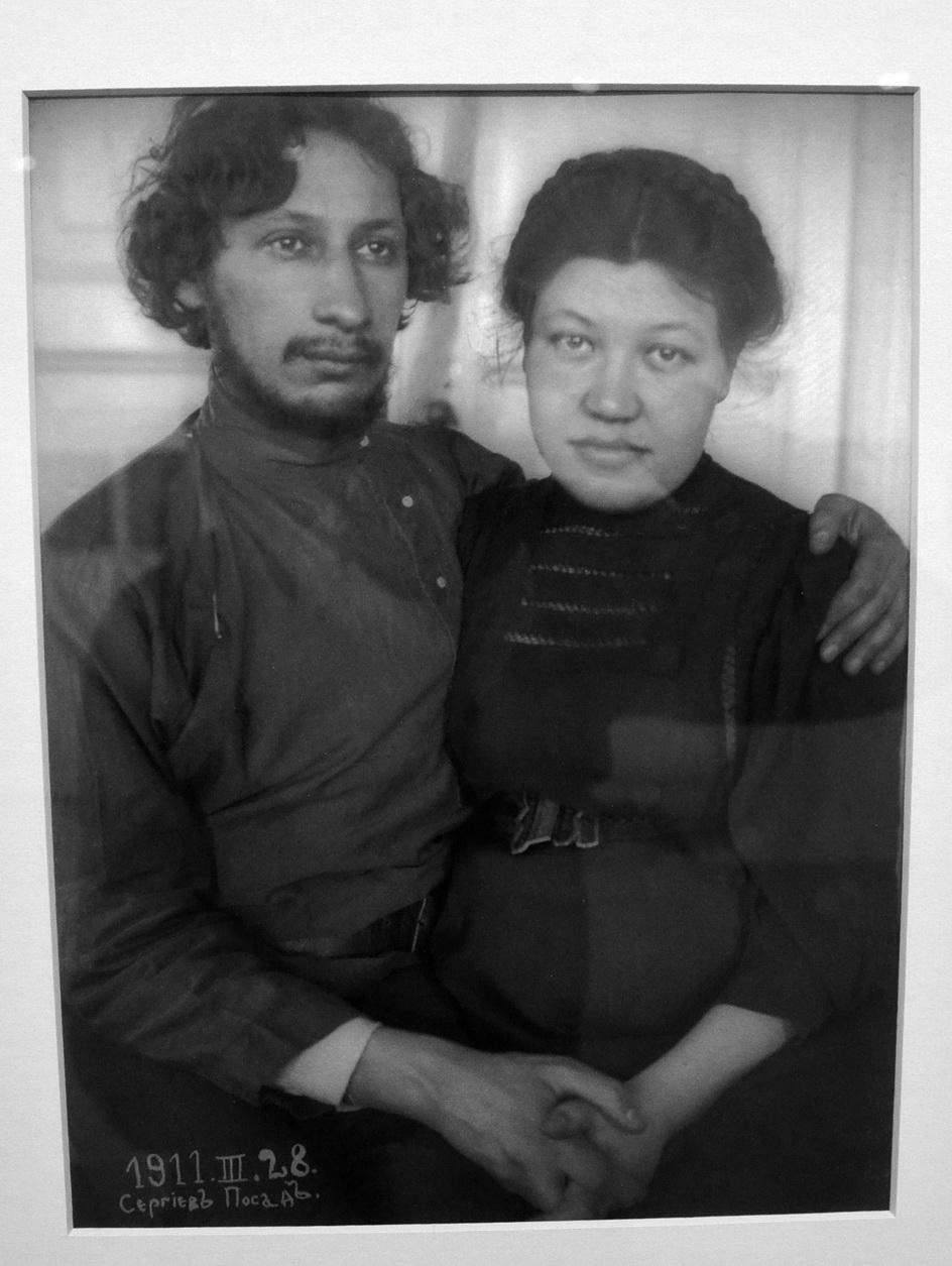 С женой, уроженкой Сергиева Посада.