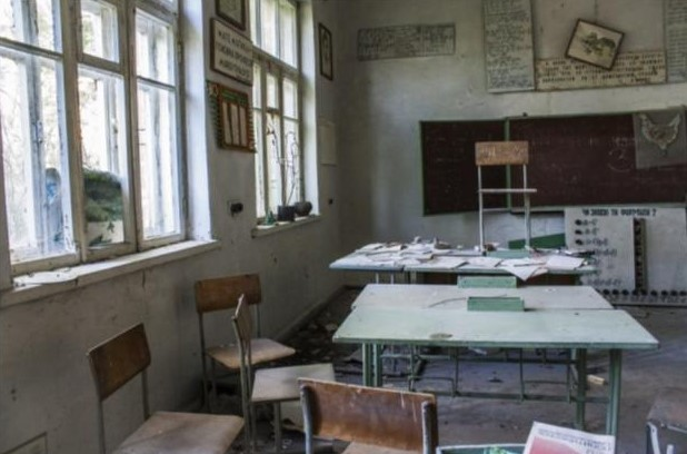 школа в Чернобыле после аварии на АЭС