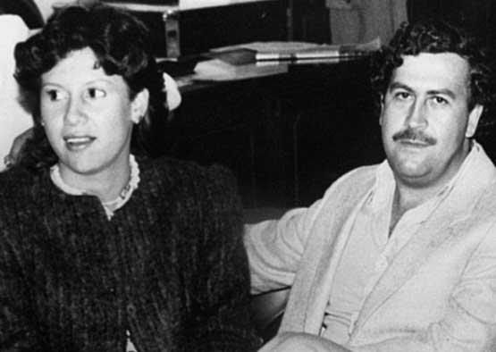 Пабло Эскобар с женой Марией