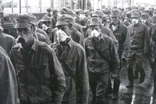 Фото ликвидаторов аварии на Чернобыльской АЭС