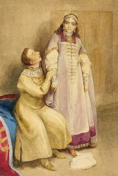 К. Неврев. Лжедмитрий и царевна Ксения Годунова