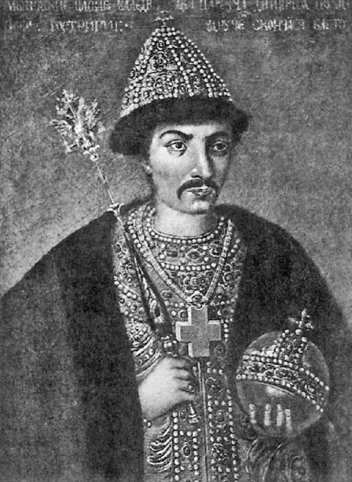 Поздний портрет Бориса Годунова с татарскими чертами лица