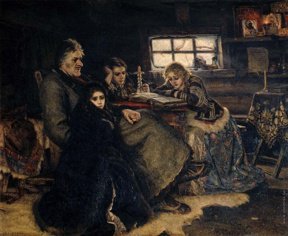 Знаменитая картина Василия Сурикова «Меншиков в Березове»