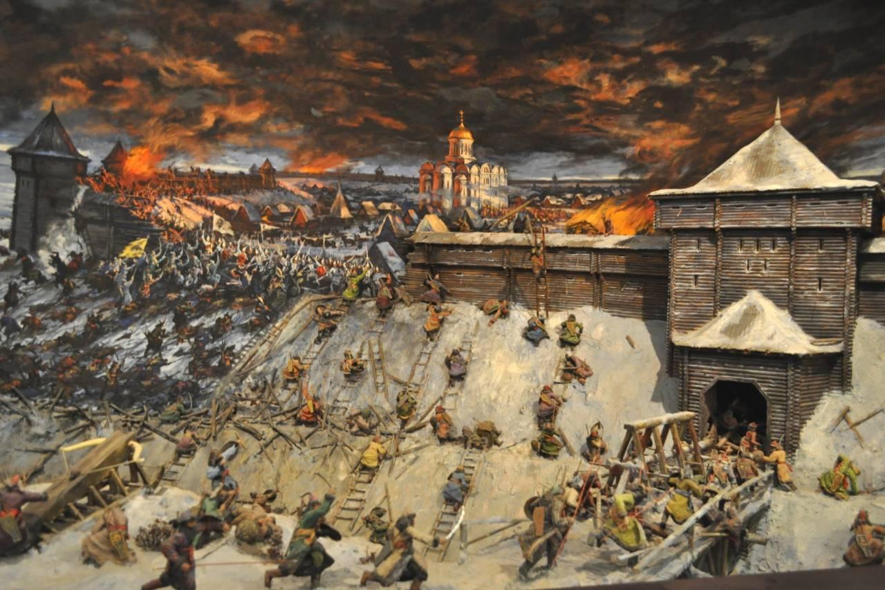Диорама «Оборона старой Рязани в 1237 году»
