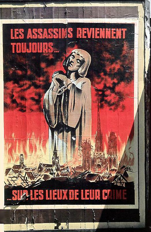 Плакат с Жанной д'Арк