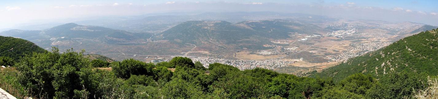 Галилея, панорама с горы Ари