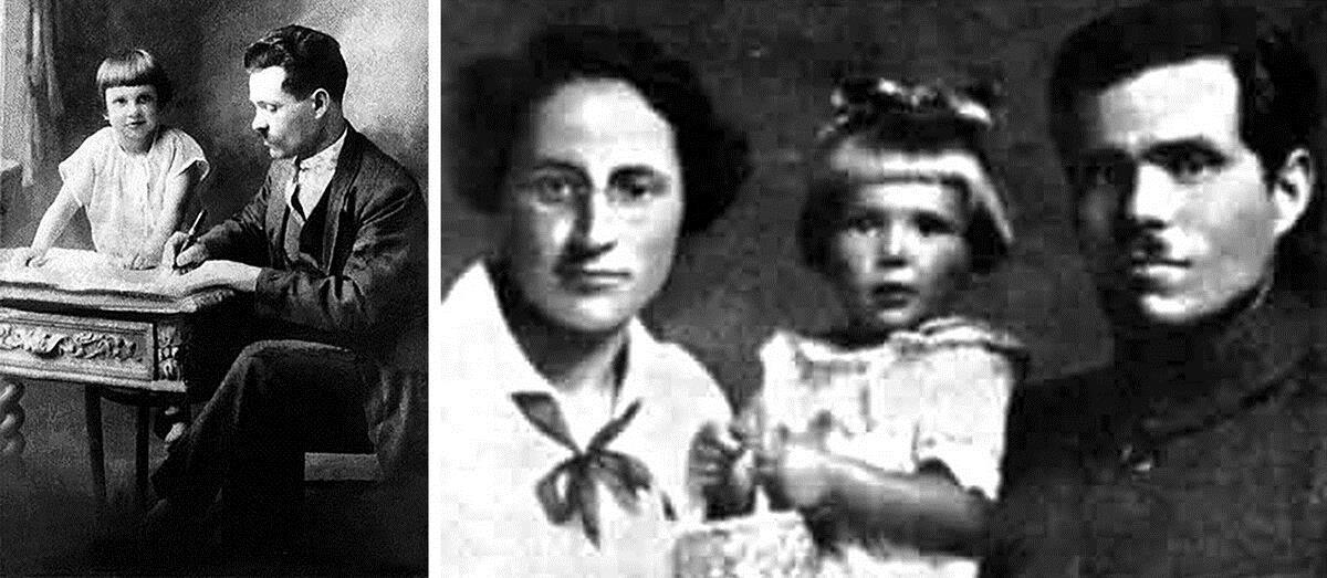 Махно с женой и дочерью
