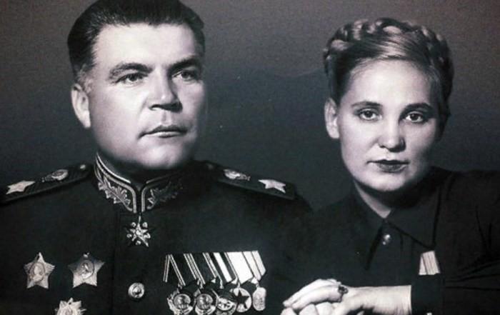 Родион Малиновский и Раиса Гальперина
