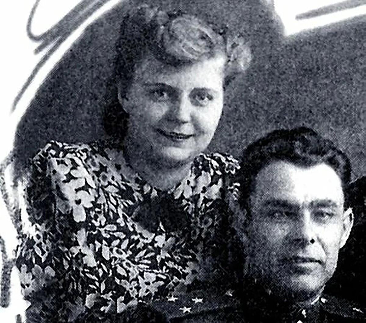 Тамара Лаверченко и Леонид Брежнев