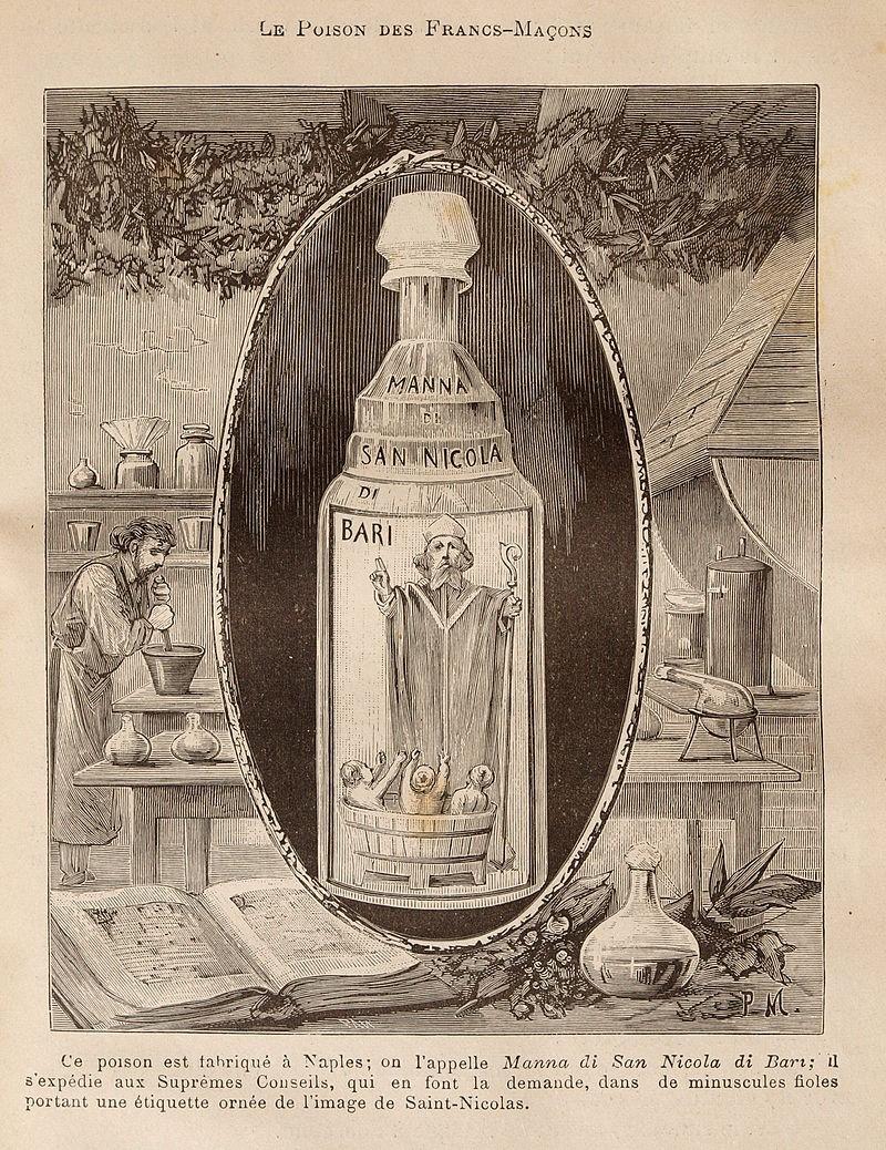 Бутылка с «манной святого Николая»