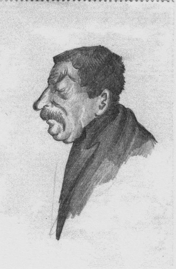 Шаржи Бухарина на Сталина