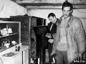 Александр Ращепкин на следственном эксперименте