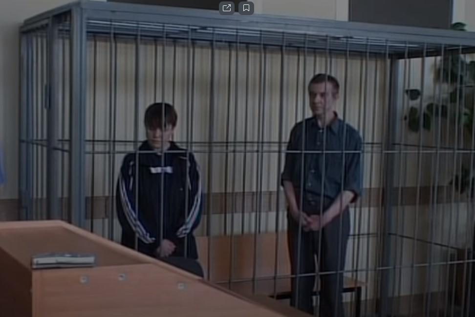 Наталья Бадукина и Виктор Мохов на суде
