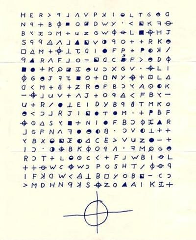 Зашифрованное письмо Зодиака